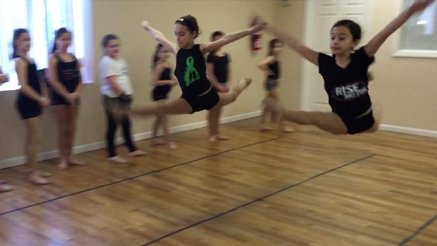Grand Jeté Leaping Jump in Dance