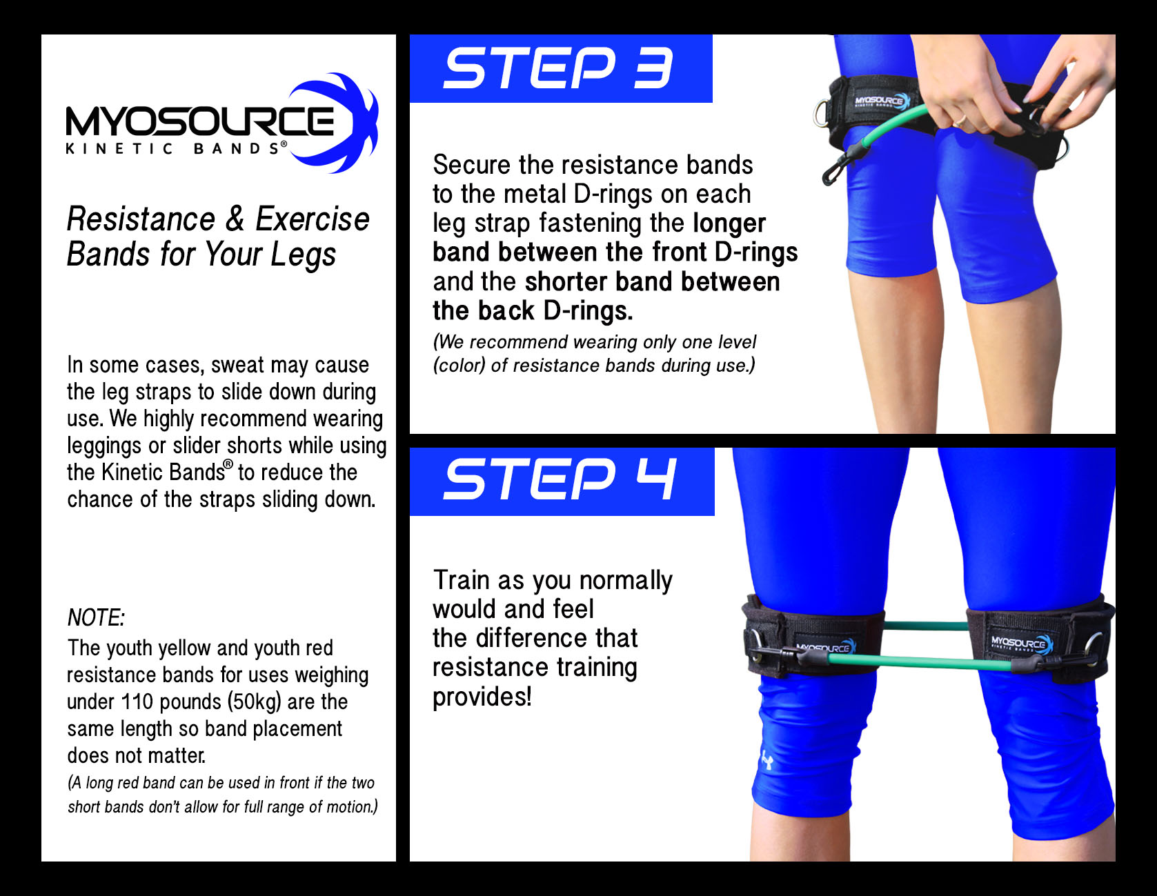 How To Put On The Kinetic Bands - Steps 3 and 4