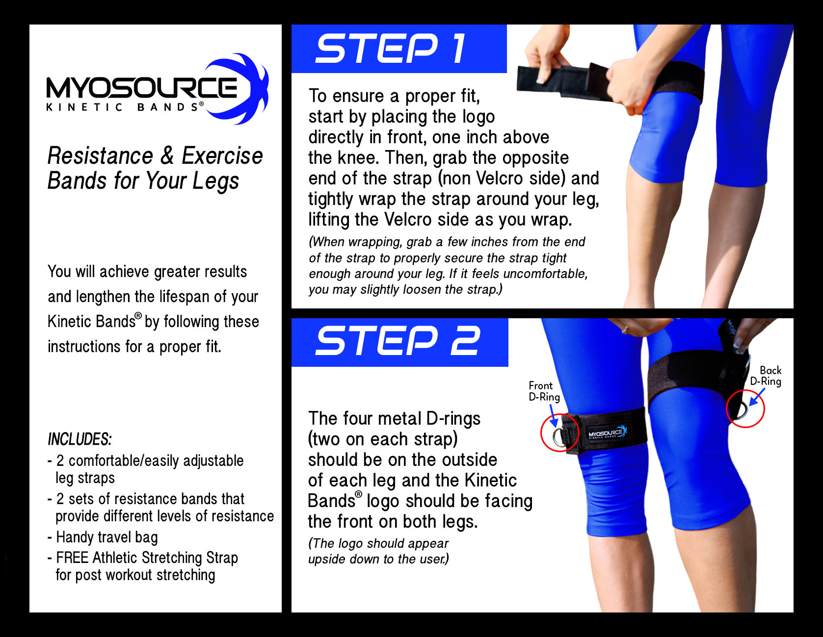 How To Put On The Kinetic Bands - Steps 1 and 2