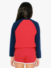 Kids' 50/50 Cropped 3/4 Sleeve Raglan (Red/Navy)