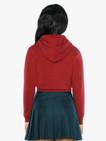 Kids' Flex Fleece Cropped Zip Hoodie (Cranberry)