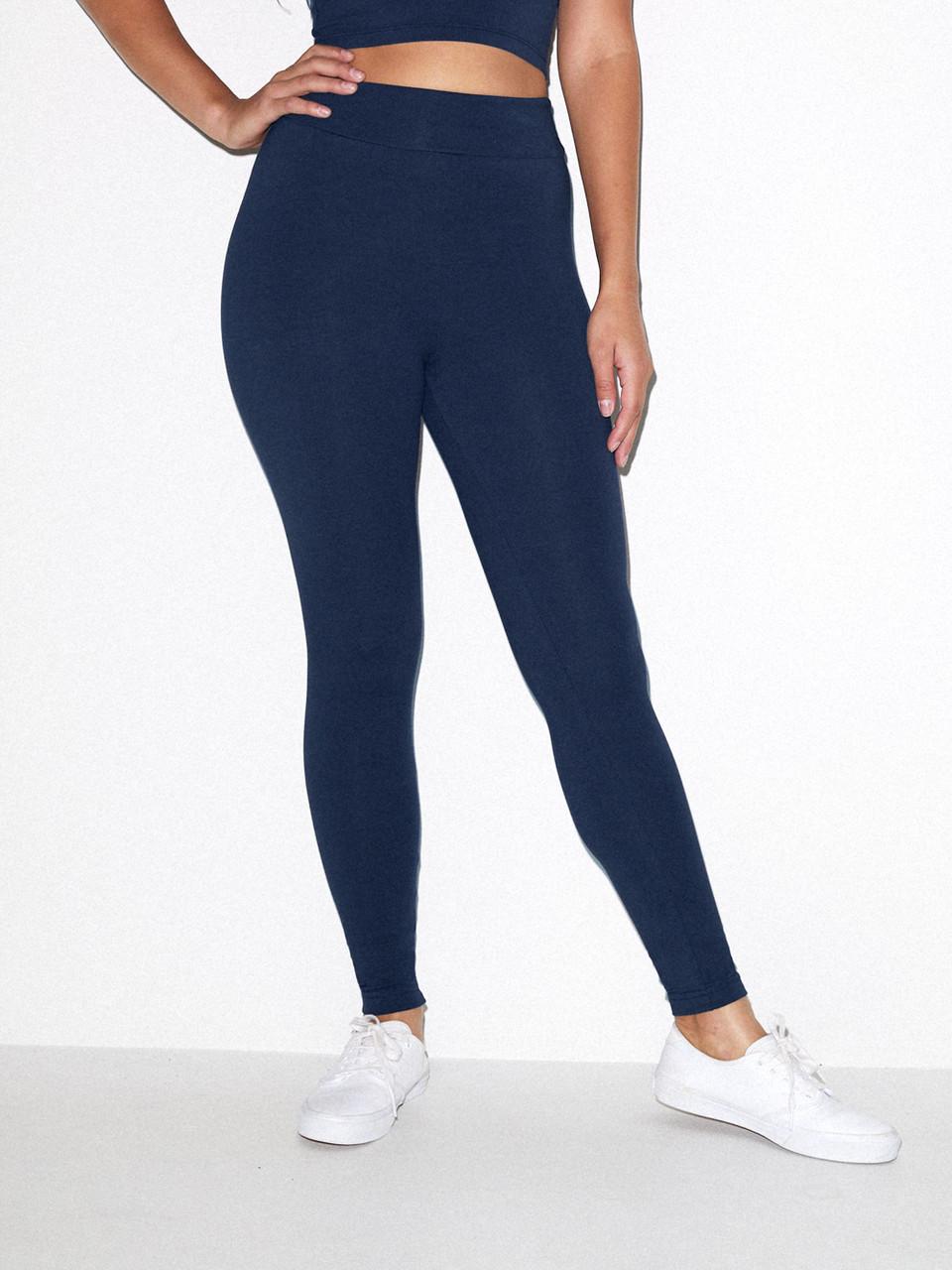 American Apparel Womens Cotton Spandex Jersey High-Waist Leggings