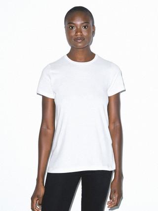 Organic Fine Jersey Classic Crewneck T-Shirt (White)