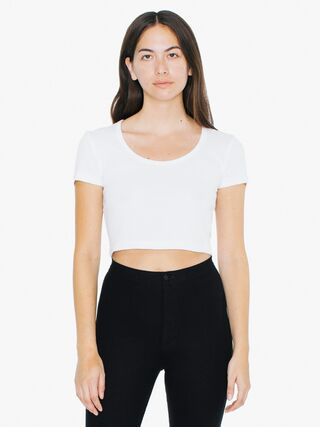 Baby Rib Crop T-Shirt (White)