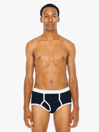Baby Rib Brief (Black/White)