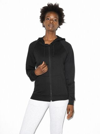 Unisex California Fleece Zip Hoodie (Black)