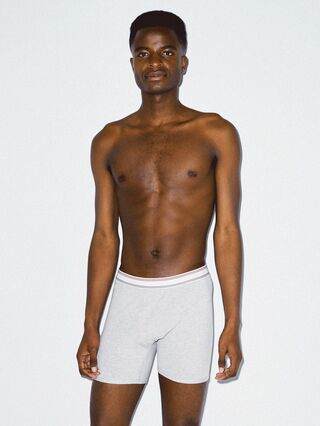 Cotton Spandex Boxer Brief (Heather Grey)