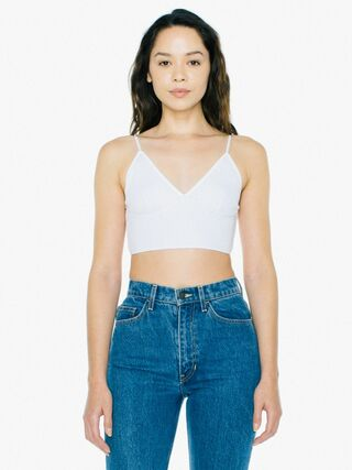 Cotton 2x2 Sofia Bralette (White)