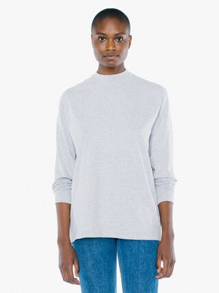 Unisex Heavy Jersey Long Sleeve Box T-Shirt (Heather Grey)