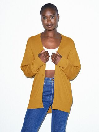 Unisex Basic Knit Cardigan (Honey)