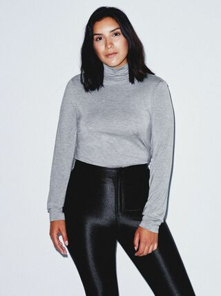 Mix Modal Long Sleeve Turtleneck (Heather Charcoal)