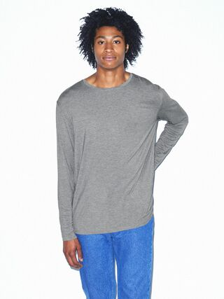 Mix Modal Long Sleeve Crewneck (Heather Charcoal)