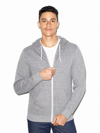 Peppered Fleece Zip Hoodie (Peppered Grey)