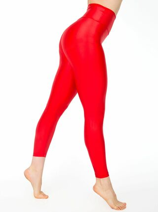 Nylon Tricot High Waist Legging (Poppy)