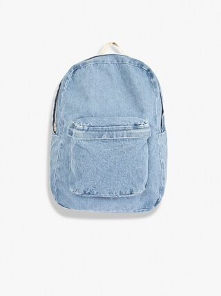Cotton Canvas School Bag (Light Wash)