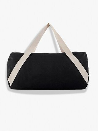 Cotton Canvas Gym Bag (Black/Natural)