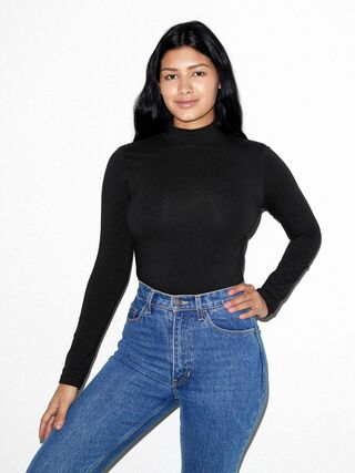 Cotton Spandex Turtleneck (Black)