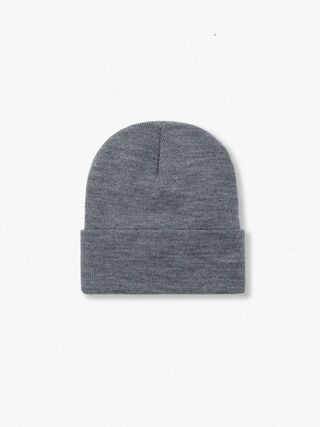 Cuffed Acrylic Lined Beanie (Dark Heather Grey)