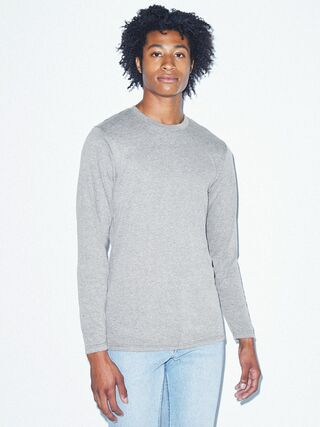 Tri-Blend Long Sleeve T-Shirt (Athletic Grey)