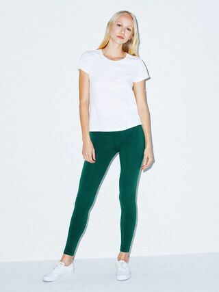 Cotton Spandex Jersey Legging (Forest)