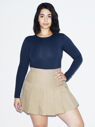 Gabardine Tennis Skirt (Khaki)