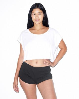 Black // White, L 7301 Womens interlock running short