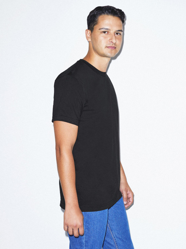 Organic Fine Jersey Crewneck T-Shirt (Black)