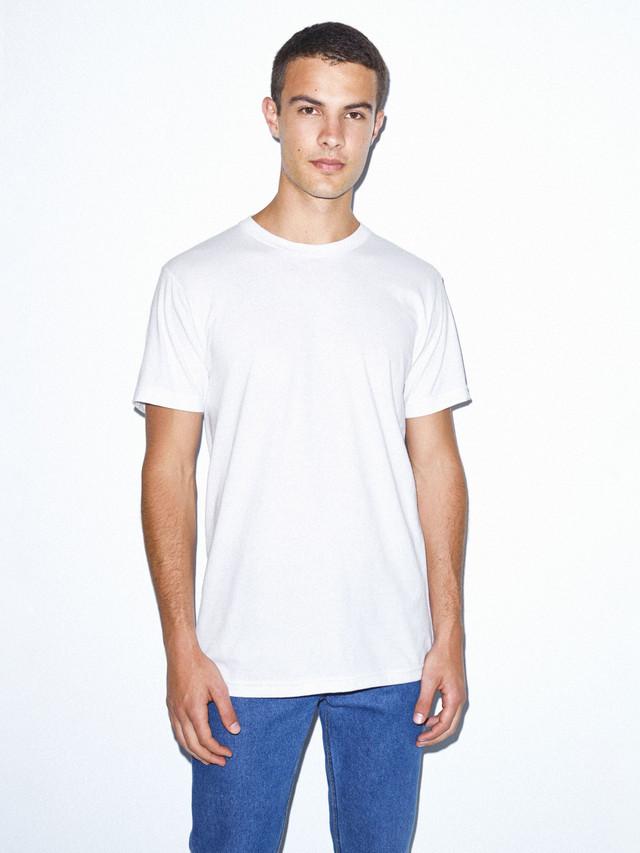 Organic Fine Jersey Crewneck T-Shirt (White)