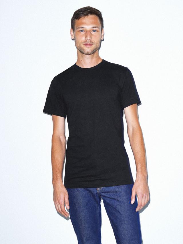 Fine Jersey Crewneck T-Shirt (Black)