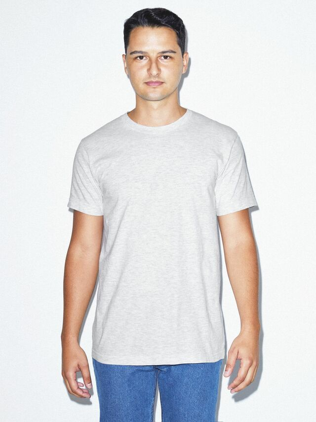 Fine Jersey Crewneck T-Shirt (Ash Grey)