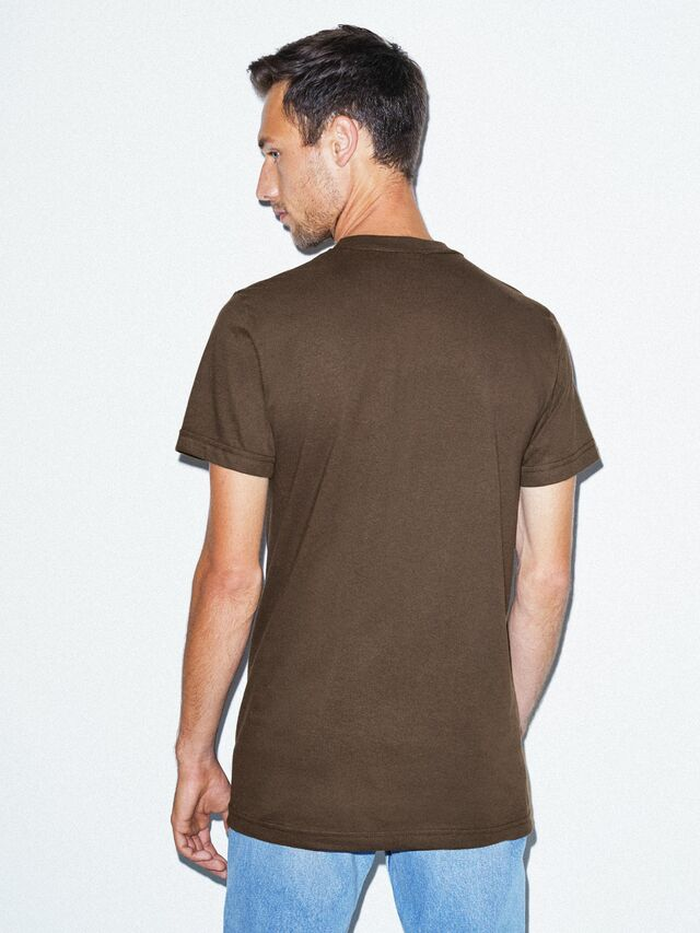 Fine Jersey Crewneck T-Shirt (Brown)