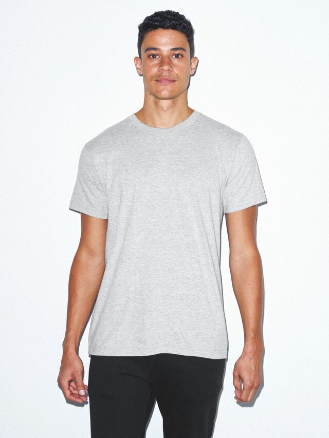 Fine Jersey Crewneck T-Shirt (Heather Grey)