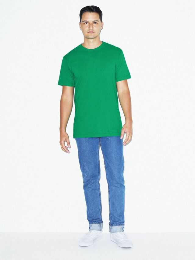 Fine Jersey Crewneck T-Shirt (Kelly Green)