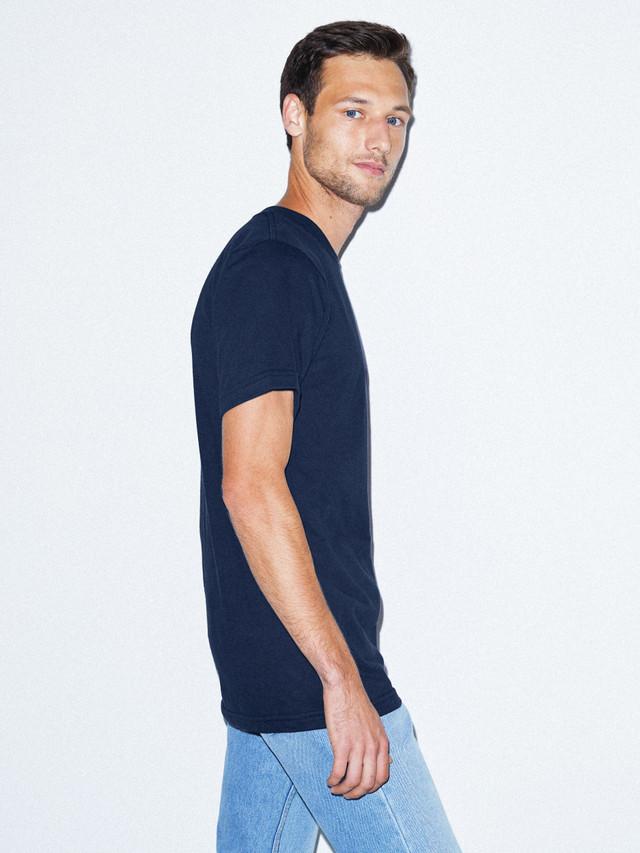 Fine Jersey Crewneck T-Shirt (Navy)