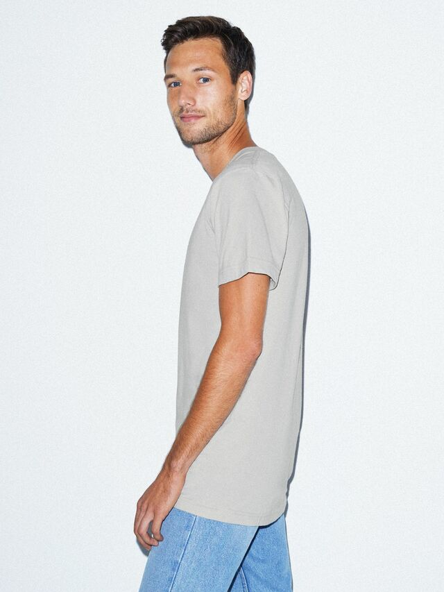 Fine Jersey Crewneck T-Shirt (New Silver)