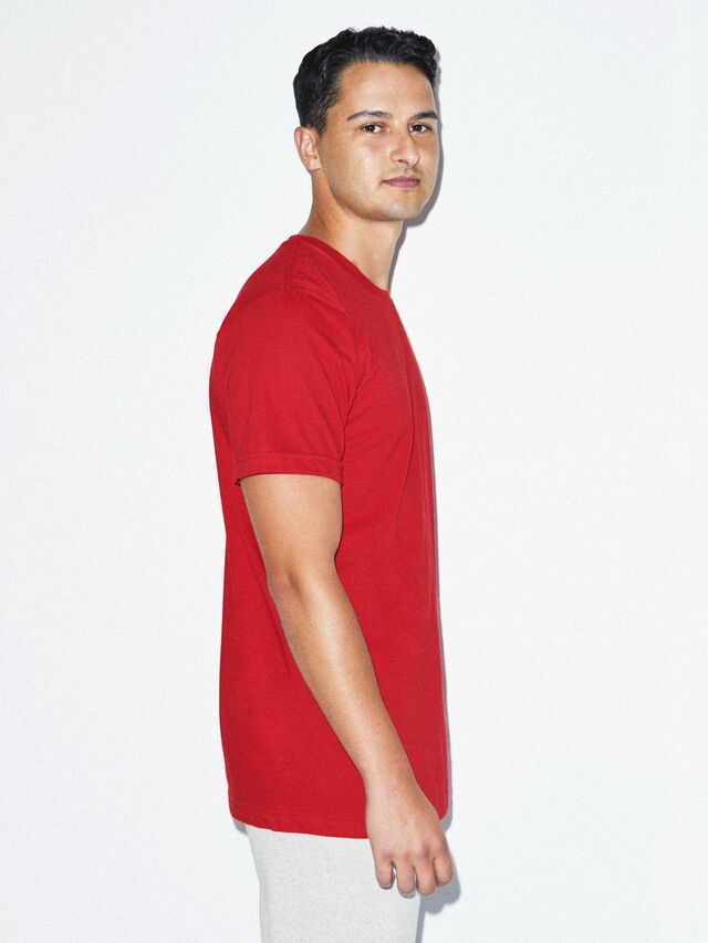 Fine Jersey Crewneck T-Shirt (Red)