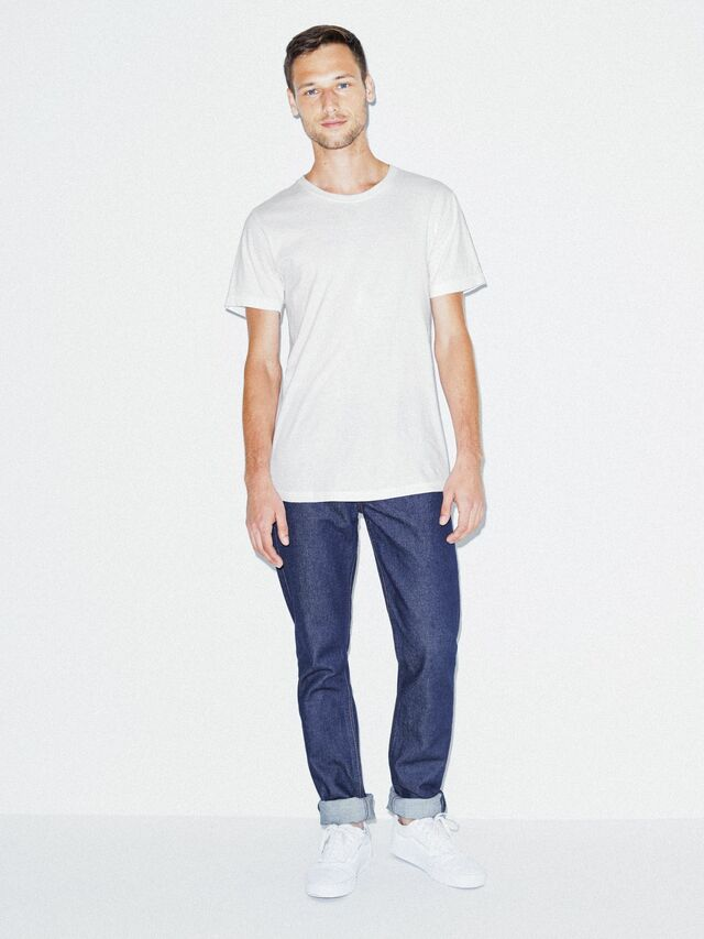 Fine Jersey Crewneck T-Shirt (White)