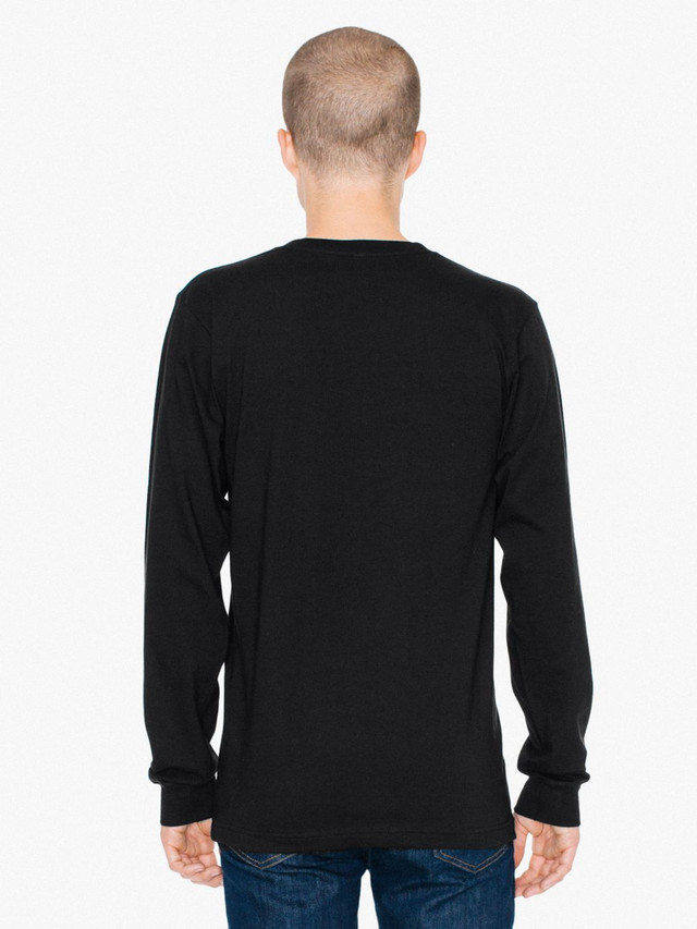 Fine Jersey Crewneck Long Sleeve T-Shirt (Black)