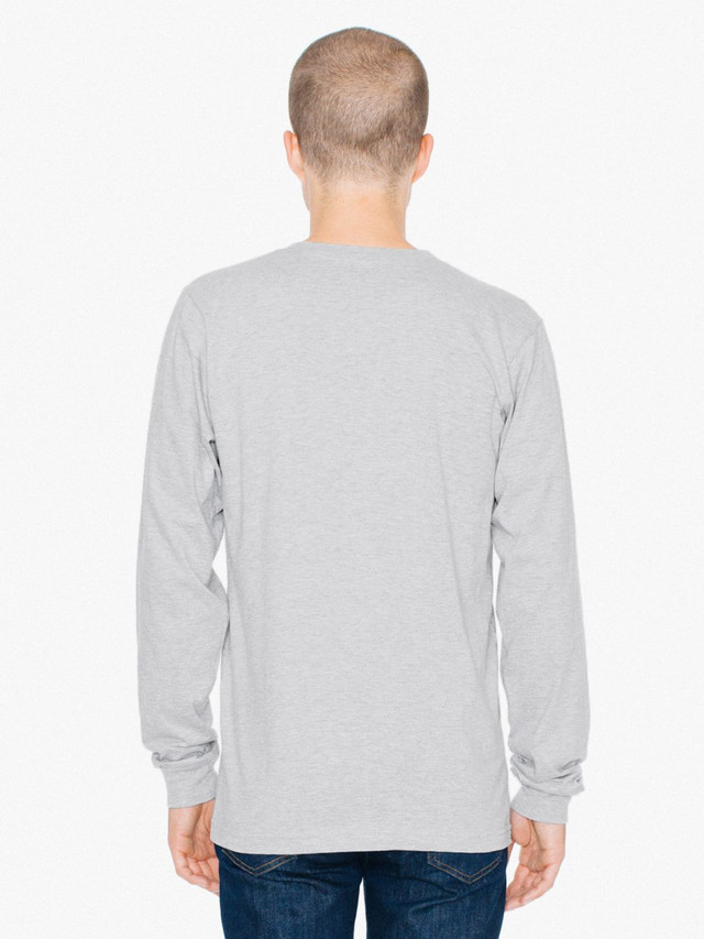 Fine Jersey Crewneck Long Sleeve T-Shirt (Heather Grey)