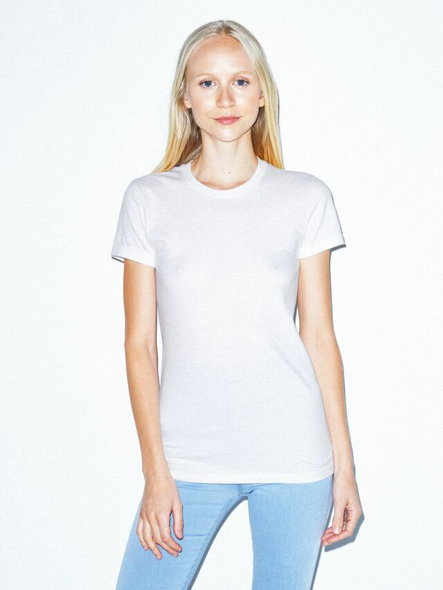 Fine Jersey Fitted T-Shirt (White)