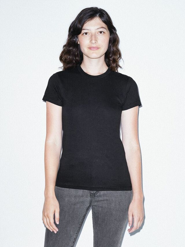 Fine Jersey Fitted T-Shirt (Black)