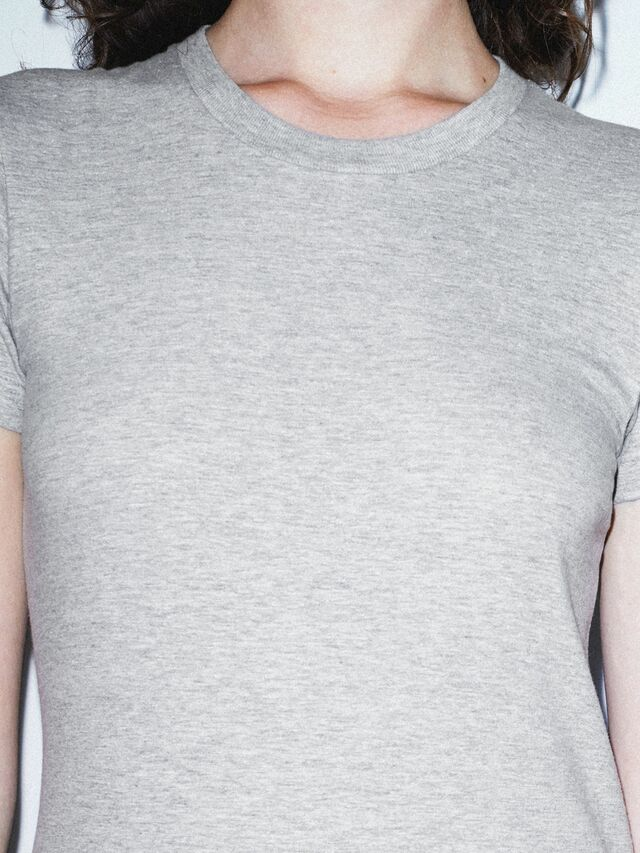 Fine Jersey Fitted T-Shirt (Heather Grey)