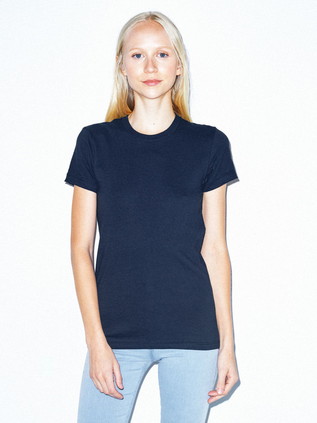 Fine Jersey Fitted T-Shirt (Navy)