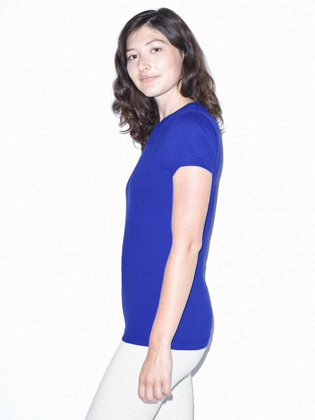 Fine Jersey Fitted T-Shirt (Royal Blue)