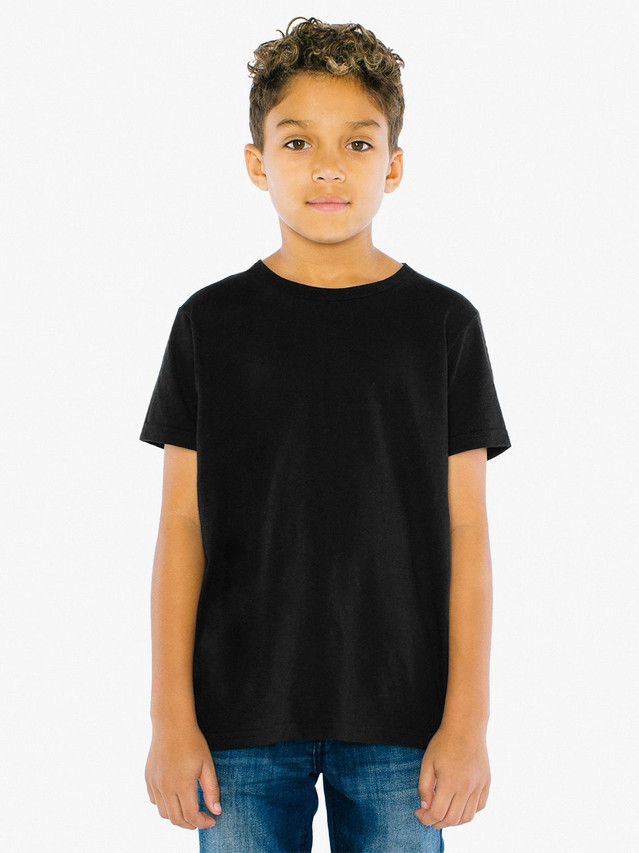 Youth Fine Jersey Crewneck T-Shirt (Black)