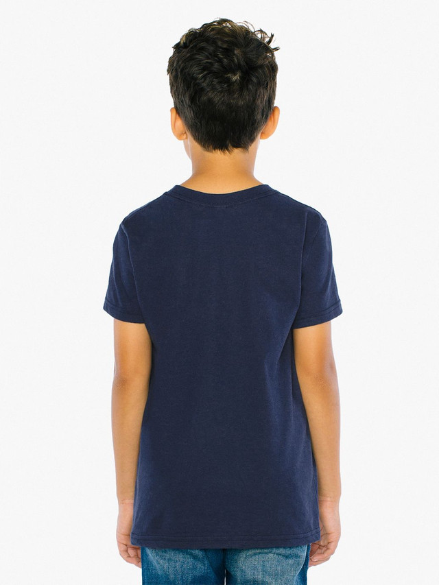 Youth Fine Jersey Crewneck T-Shirt (Navy)