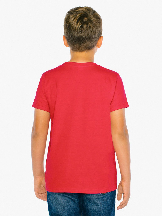 Youth Fine Jersey Crewneck T-Shirt (Red)