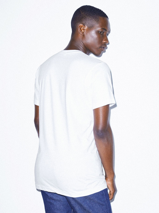Fine Jersey Crewneck Pocket T-Shirt (White)
