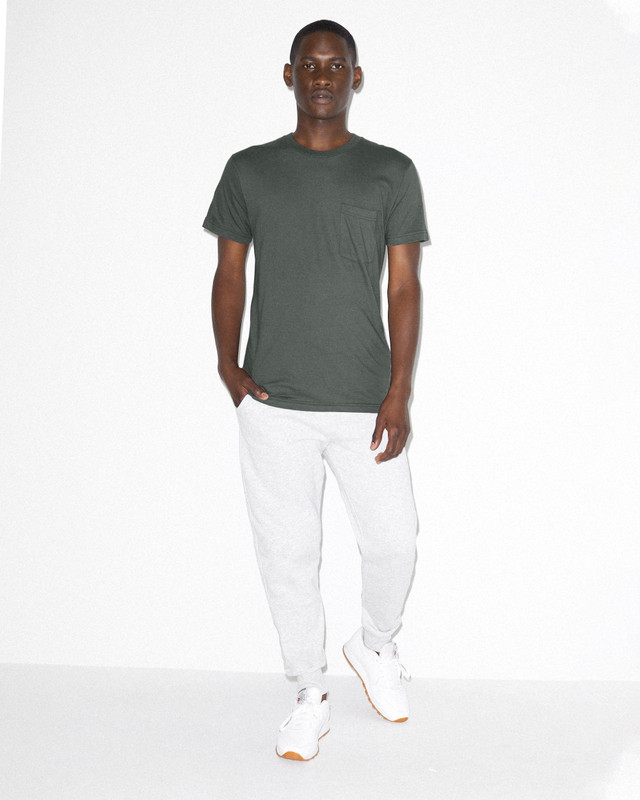 Fine Jersey Crewneck Pocket T-Shirt (Asphalt)