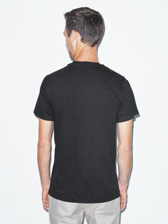 Fine Jersey Crewneck Pocket T-Shirt (Black)